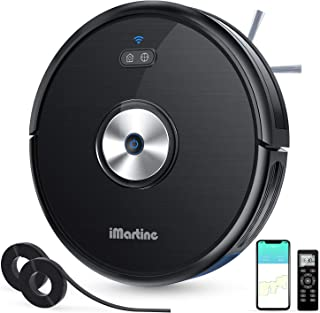 Robot Vacuum Cleaner Slim, Wi-Fi Connected, Compatible with Alexa, Smart Self-Charging Robotic Vacuum, 1600Pa Strong Suction, Quiet Ultra-Thin for Pet Dog Hair Hard Floor Carpet (D900C)