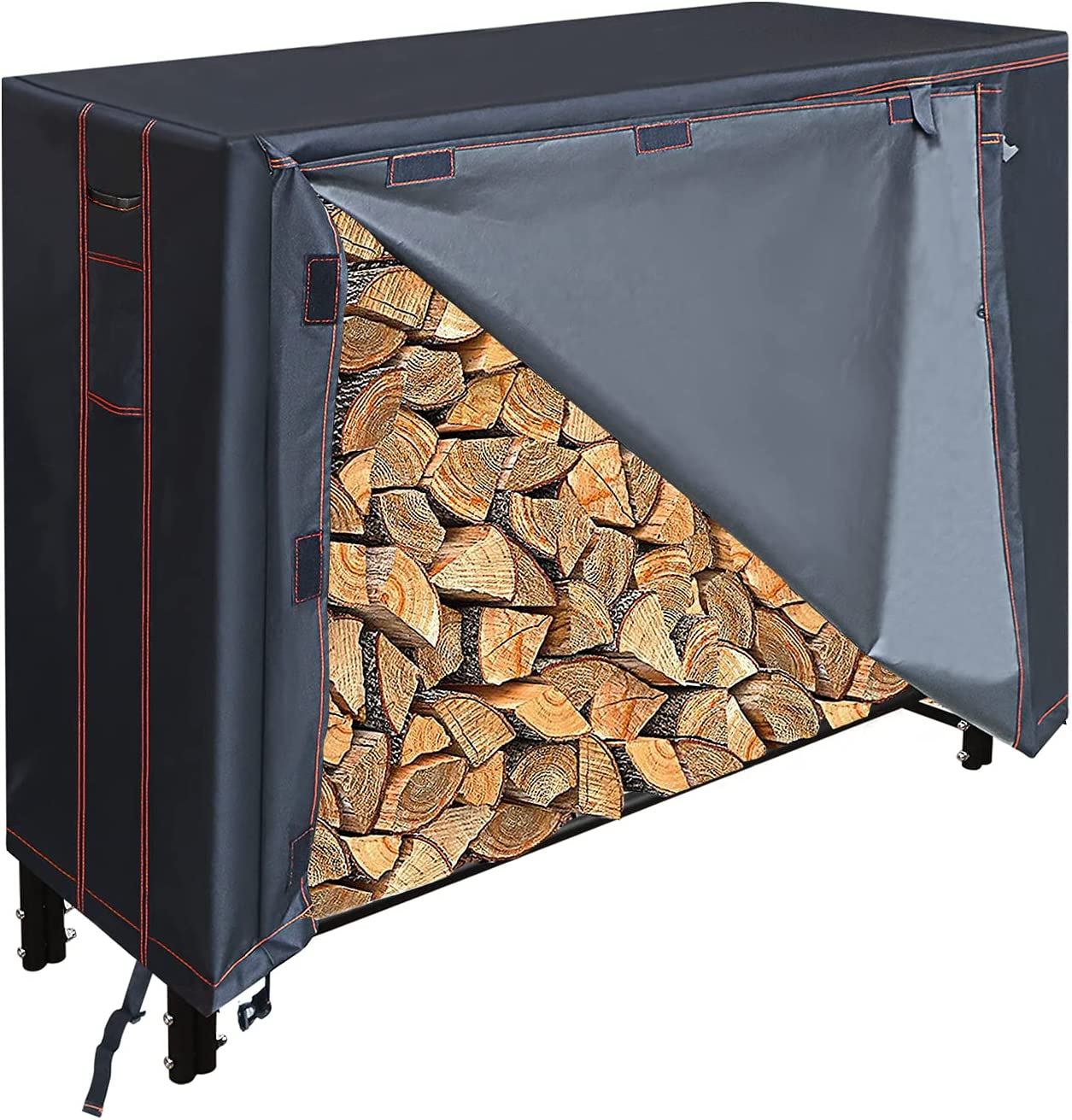 SnugNiture 4 It is very popular Feet Firewood Log Rack Heavy Manufacturer direct delivery Cover Dut Oxford 600D