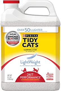 Purina Tidy Cats LightWeight Clumping Litter 24/7 Performance for Multiple Cats 8.5 lb. Jug- 3 Pack