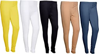 IndiWeaves Womens Premium Cotton Ankle Length Leggings_Multicolor_Size-Free_7102634394849-IW-P5-Free