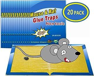 Wemk Trampas para Ratones 20 Piezas Almohadilla Pegajosa de Ratón Colector de Ratón Control de Ratones Súper Pegajoso 8