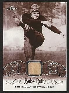 Babe Ruth 2016 Leaf #ys-26 Original Yankee Stadium Game Used Seat Trading Card - Baseball Game Used Cards