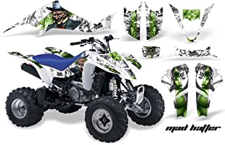 AMR Racing Graphics Kit for ATV Suzuki LTZ 400 2003-2008 MAD HATTER GREEN WHITE