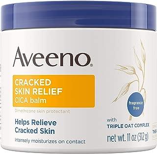 Aveeno Cracked Skin Relief Balm 11 Ounce Jar (325ml) (3 Pack)