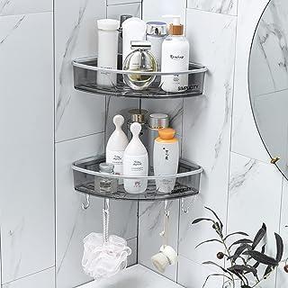 CGLOVEWYL étagère de Rangement pour Salle de Bain Maison shampooing Porte-Serviettes avec Crochets étagère d'angle Organis...