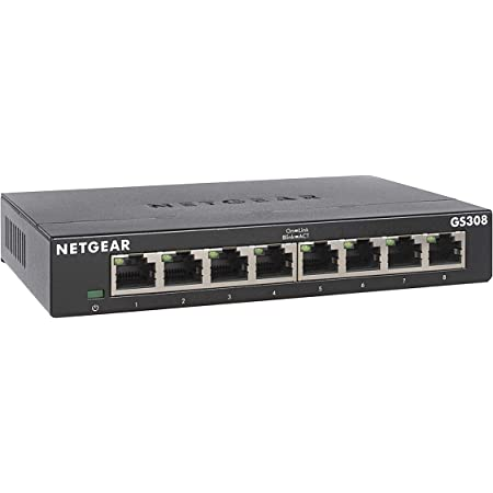 Amazon Com Netgear 8 Port Gigabit Ethernet Unmanaged Switch Gs308 Home Network Hub Office Ethernet Splitter Plug And Play Fanless Metal Housing Desktop Or Wall Mount Computers Accessories