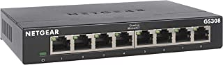 NETGEAR 8-Port Gigabit Ethernet Unmanaged Switch (GS308) - Home Network Hub, Office Ethernet Splitter, Plug-and-Play, Fanl...