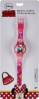 ساعة يد للبنات بشاشة عرض بمينا رقمي واضاءة ليد وامضة مزينة برسمة فروزن من ديزني - طراز SA7178 ميني بي