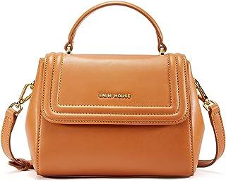 EMINI HOUSE Casual Flap Bag with Buckle Closure Women Handbag