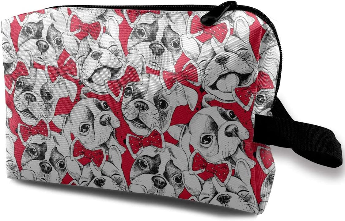 QiiRy Portraits Import of French Bulldog and Portable Challenge the lowest price of Japan Tie Bags Travel D