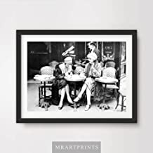 VINTAGE 1920s PARIS CAFE ART PRINT POSTER Restaurant Coffee Black White Home Decor Interior Design Wall Picture A4 A3 A2 (10 Sizes)
