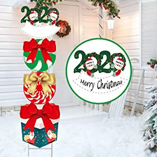 Personalized 2020 Outdoor/Indoor Christmas Decorations - 47 Inch Xmas Holiday Yard Sign, Customized Family Name Christmas ...