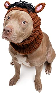 Zoo Snoods Horse Dog Costume - Neck and Ear Warmer Headband for Pets