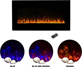 Northwest Electric Fireplace Wall Mounted LED Fire and Ice Flame, with Remote, 36