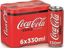 عبوة كوكاكولا زيرو، 330 مل، (6 عبوات)