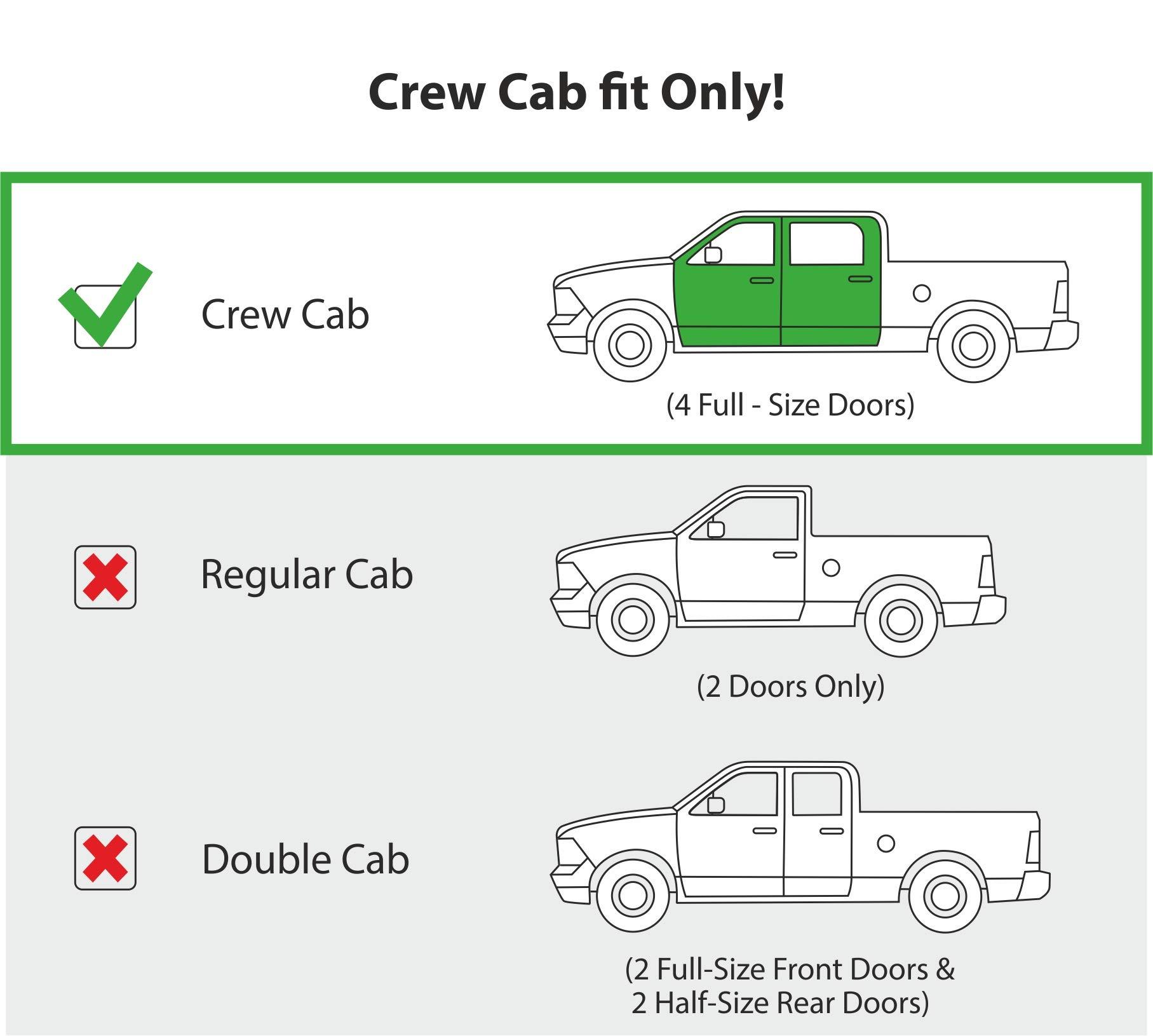 CLIM ART in-Channel Incredibly Durable Rain Guards for Chevrolet Silverado 2014-2018 Crew Cab, Original Window Deflectors, Vent Deflector, Vent Window Visors, Smoke Truck Accessories, 4 pcs- 614003