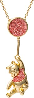Disney Classics Winnie The Pooh Yellow Gold Plated Slider Necklace, Official License