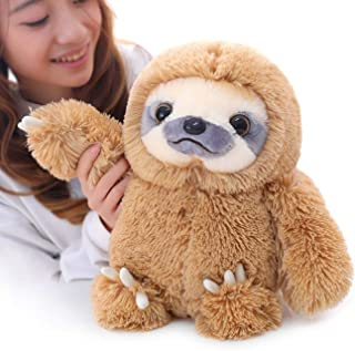 Winsterch Sloth Stuffed Animal Plush Sloth Bear Toys Gift Baby Doll ,Brown Sloth Toy 15.7''