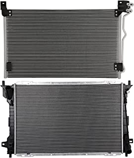 ROADFAR Condensador de CA y radiador para 1998-2002 para Ford para Crown Victoria 1998-2002 para Lincoln para Town Car 199...
