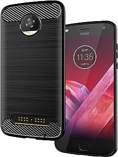 "LiXiongBao Case for Motorola Moto Z2 Play 5.5"" Flexible TPU Bumper Slim Fit Case Carbon Fiber Design Lightweight Shockproo..."