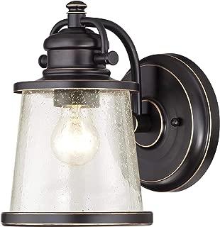 Westinghouse Lighting 6204000 Emma Jane One-Light Outdoor Wall Lantern, 1-Pack, Amber Bronze (Renewed)