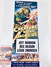 RICOU BROWNING SIGNED 12X18 PHOTO MINI POSTER THE CREATURE WALKS AMONG US JSA WPP274288 AUTOGRAPH PROOF COA AUTOGRAPHED UNIVERSAL MONSTER