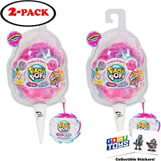 Pikmi Pops Surprise! Pikmi Flips (Reversible Scented Plush) Cotton Candy Series 4 (Gift Set of 2) with 2 GosuToys Stickers
