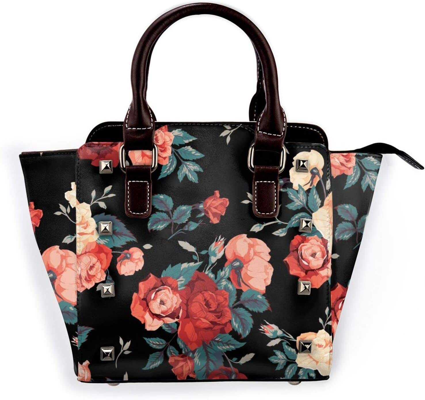 Tote NEW before selling ☆ Bag New sales Vintage Rose Golden 3D Printed Shoulder Non-Fading