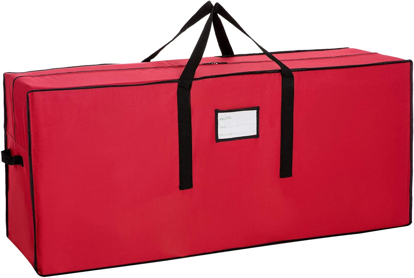 Sattiyrch Christmas Tree Storage Be super welcome It is very popular Bag Red 600D Canvas Heavy Duty