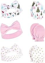 Hudson Baby Unisex Cotton Headband and Scratch Mitten Set, Sparkle Trees, 0-6 Months