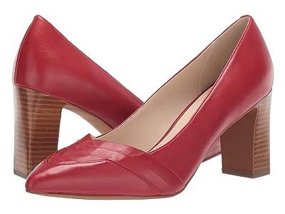 Cole Haan Eliisa Pump 75 mm (Red Dahlia Leather) Women