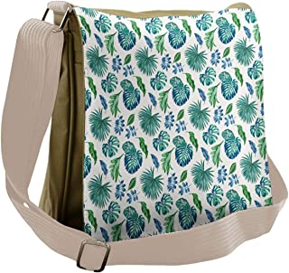 XIANGXIANG SHOP Flowers Floral Pattern Background Fashion Unisex Casual Popular Outdoor Sling Bag Messenger Bag Shoulder Bag