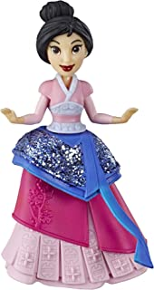 Disney Princess Mulan Collectible Doll with Glittery Blue & Red One-Clip Dress, Royal Clips Fashion Toy