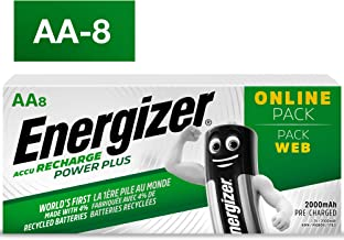Energizer Power Plus Rechargeable AA 8 Pack Batteries
