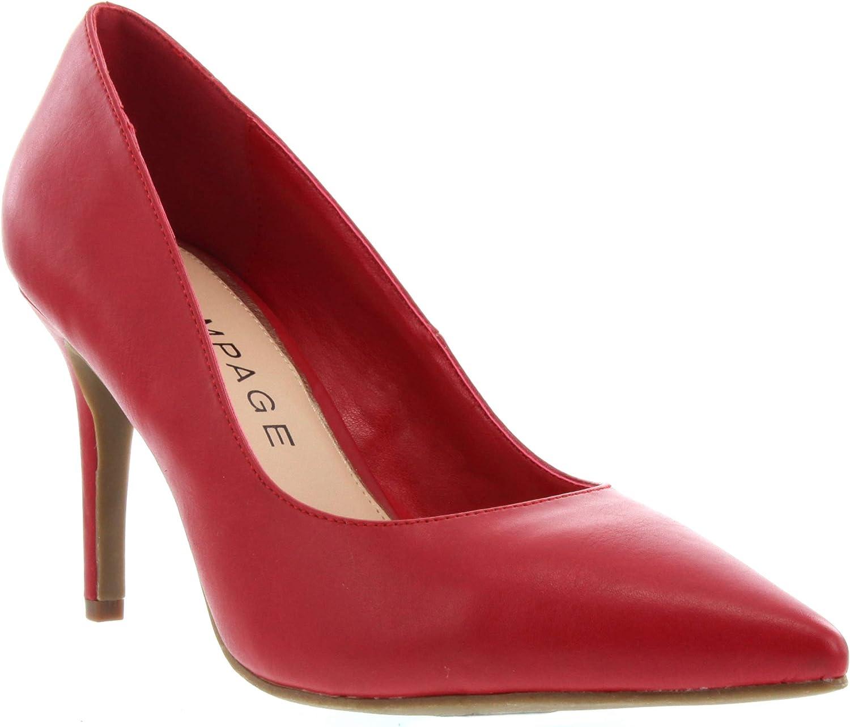Rampage Women's Fabre Heel Pointed Toe Pump Dress shoes Sandal