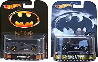 Hot Wheels Retro Series 1989 Batmobiles Set of 2 Variations Limited EditionKnight Rider Set of 2 Variations: KITT & KARR Limited Edition 1:64 Scale Collectible Die Cast Metal Toy Car Models