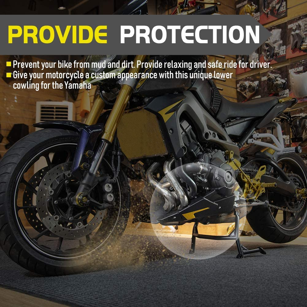 FATExpress Kit Telaio Copertura carenatura Motore Basso Ventre Basso per Moto Yamaha MT FZ 09 MT-09 FZ-09 MT09 FZ09 Tracer 900 GT Accessori 2013 2014 2015 2016 2017 2018 2019 2020 Effetto Carbonio