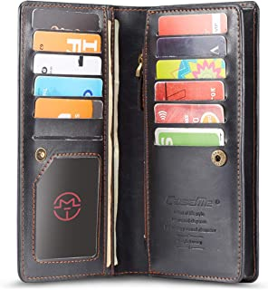Women's Men's Wallet RFID Blocking Large Capacity Leather Clutch Wallet Card Holder Organizer Purse