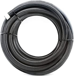 2RZ 6AN 16Ft(5M) Universal Braided Oil Fuel Line Hose Stainless Steel Nylon for 3/8