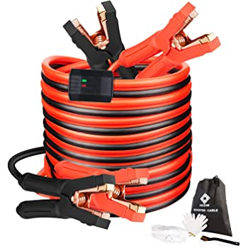 Red and Black Set Spartan Power Replacement Jumper Cable Heavy Duty Battery Clamps