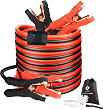 Jumper Cables, Heavy Duty Booster Cables 0 Gauge 25Feet (0AWG x 25Ft) 1000Amp with..