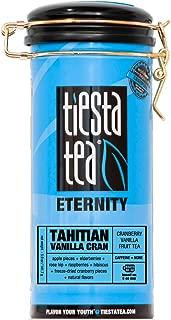 Tiesta Tea Tahitian Vanilla Cran, Cranberry Vanilla Fruit Tea, 50 Servings, 5 Ounce Tin, Caffeine Free, Loose Leaf Herbal Tea Eternity Blend, Non-GMO