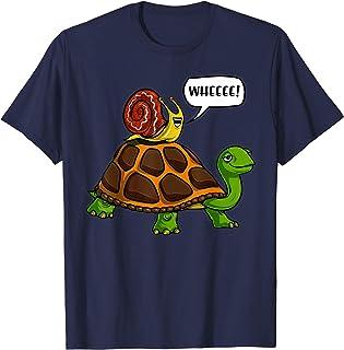 Escargot Tortue Animal Drôle Fantaisie Filles Garçons T-Shirt