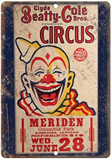 clyde beatty cole bros circus poster