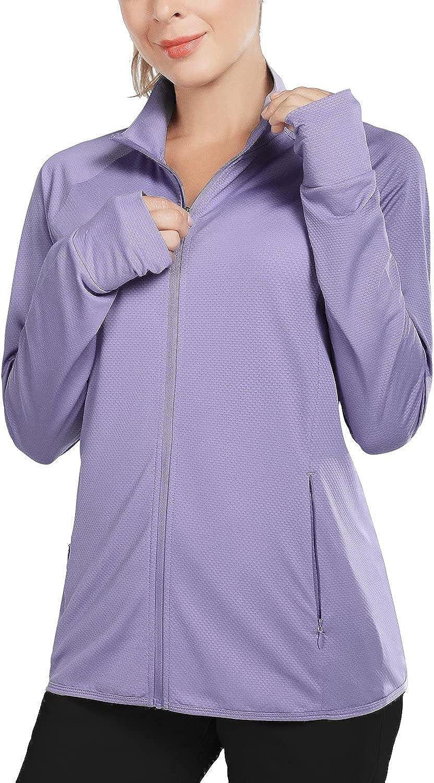 BALEAF Women's UPF 50+ Jackets Lightweight Sun Shirts Full Max 70% OFF R Zip Washington Mall