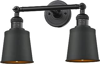 Innovations 208-BK-M9-BK 2 Light Bathroom Fixture, Matte Black