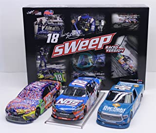 Lionel Racing W181721M3KBES Kyle Busch #18 Bristol Sweep 3 Car Set 2017 1:24 Scale Diecast, Multicolor (Pack of 3)