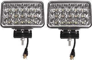 Lightronic 4X6 Inch Rectangular 12-24V 45W 6000K LED Off Road Fog & Driving Light (2 Pack)