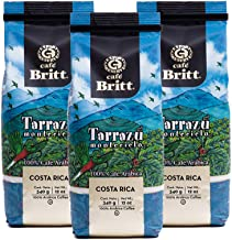Café Britt - Costa Rican Tarrazu Montecielo Coffee (12 oz.) (3-Pack) - Ground, Arabica Coffee, Kosher, Gluten Free, 100% Gourmet & Medium Dark Roast (1 Year Shelf-Life)