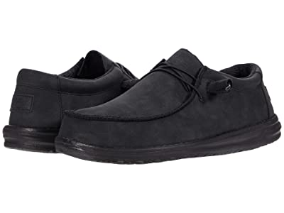 Hey Dude Wally Recycled Leather (Carbon) Men